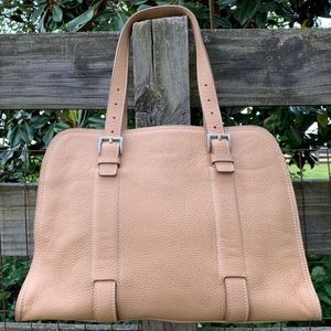 Prada Vitello Daino SugHero Brown Saddle Bag